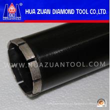 China Huazuan New Black 76mm Diamond Tools Corona Broca para hormigón