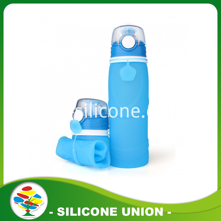 Light foldable silicone water bottle
