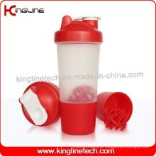 Garrafa protetora de proteína de 500 ml com 1 compartimento e bola de mistura de plástico (KL-7024)