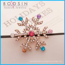 Moda jóias floco de neve cristal broche
