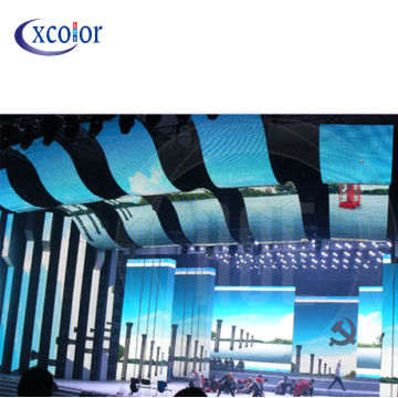 Flexible Curtain LED display stage usage