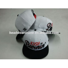 raised embroidery custom flat brim snapback cap
