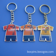 Printing T-Shirt Design Metal Key Chain with Ring