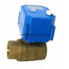 Robinet à tournant sphérique d'eau à moteur en laiton de 2 manières pour la CAHT