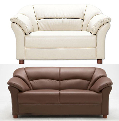 Leather Combination Sofa