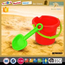 Mais novo brinquedo de praia para verão balde de praia com pá