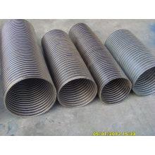 Mangueiras flexíveis de aço inoxidável do metal, tubulação flexível da exaustão (ATM-127)