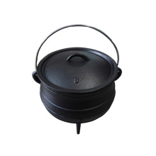 South Africa Black Painting Camping 3 Legs Pot Cast Iron Cauldron