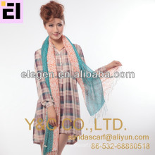100% Acrylic spring&fall ladies printing scarf