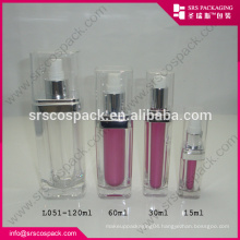 China Square 15ml 30ml 60ml 120ml Cosmetic Contaner For Men Cologne Bottle