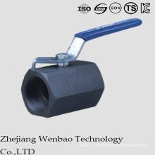 Válvula de bola forjada de alta presión de acero al carbono de calibre reducido