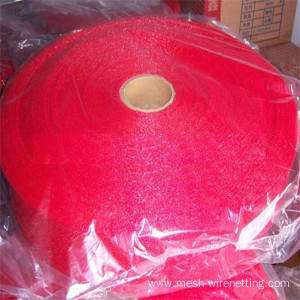 color red extruded mesh bags