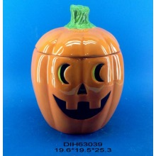 Ceramic Pumpkin Storage Jar for Halloween Decoration