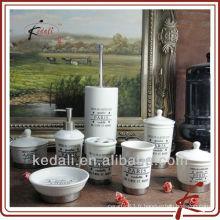 Nouvelle vente en gros de produits en céramique en porcelaine Set de toilette