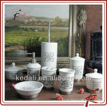 Nova atacado de cerâmica porcelana banho produtos Washroom Set