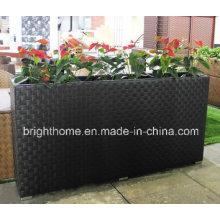 Открытый ротанг сад цветочный завод горшок