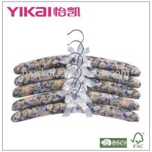 Set aus 5pcs Baumwolle gepolstert Kleiderbügel mit Malerei