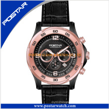 Men Fashion Multifunction Mechanical Watch Genuine Leather Band Psd-2903