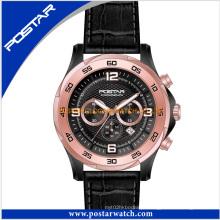 Homens moda multifunções relógio mecânico pulseira de couro genuíno psd-2903