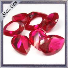 Грушевидную форму 3X4mm блестящий блестки #5 ярких красных лаборатории рубиновый