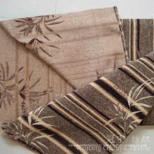 Jacquard Chenille 100% polyester teints tissu pour la maison