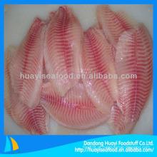 Filé de peixe de venda quente filé de tilápia congelado