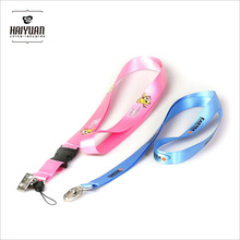 High Quality Silk Sceen Printing Smooth Nylon Material Lanyard