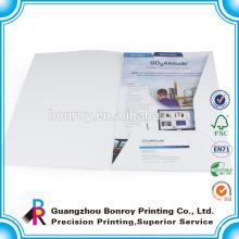 Carpetas de archivos de papel de empresa impresas a medida
