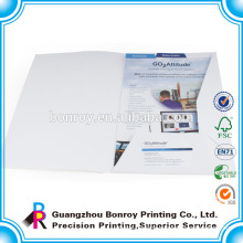 Custom printed company paper file folders