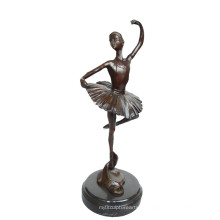 Bailarina Estátua de Bronze Bailarina Artesanato Decoração Escultura de Bronze Tpy-296