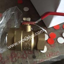 Válvula De Esfera De Bronze De Rosca Bsp 600wog