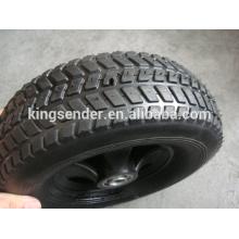 Roda de borracha semi-pneumática 10x2.5