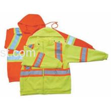 Sudadera con capucha de seguridad de alta visibilidad con polar polar para invierno