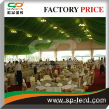 party tent wholesale with fully decorated lining and curtains for all outdoor wedding party events
