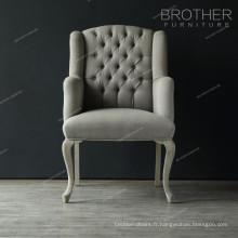 Fauteuil de bureau en velours moderne ou chaise visiteur