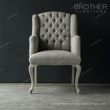 Poltrona moderna de veludo para escritório ou cadeira para visitante