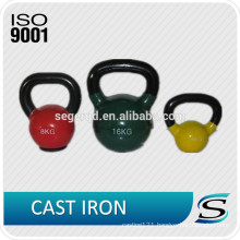 Solid cast iron neoprene coated kettlebells