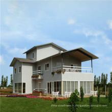 (WL-8) Chine Fourniture Prefab de luxe Construction rapide Structure en acier léger Villas