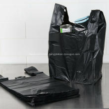 Large Plastic Grocery T-shirts Carry-out Bag Plain White
