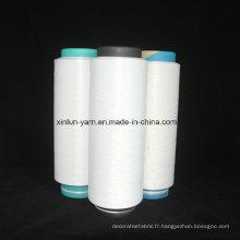 Fibre blanc brut en polyester DTY haute qualité (carte SIM 50D / 72F)