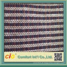 tecido de sofá de veludo listrado