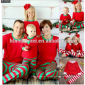Grosses soldes! Noël hiver porter un ensemble de pyjamas de noël famille gros enfants pyjama de noël en couleur rouge et blanc