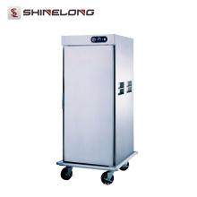 Chariots de chauffe-aliments mobiles électriques en gros d'équipement de cuisine