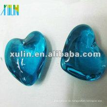Mode Aquamarin Herzen Anhänger mit Kristall in Masse CP053