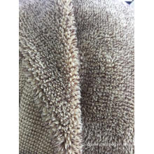 100% Polyester Melange yarn dye Sherpa Fleece