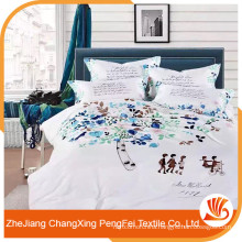 Cheap price disperse print beautiful bed sheet sets for wholesale