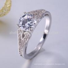 Anillos de plata ajustable más reciente diseño de anillo de plata