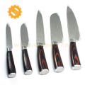 Amazon Hot selling 3 pcs damascus line kitchen knives set