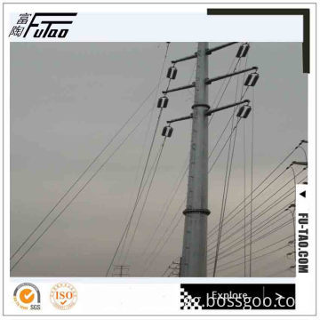 110KV Octagonal Hot Dip Galvanizd  Electric Poles