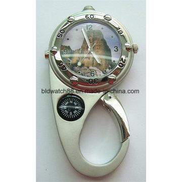 Металлический карабинный клип на часы